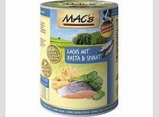 Mac's Hundefutter nass Seefisch + Nudeln + Spinat 400g ... Mac S Hundefutter