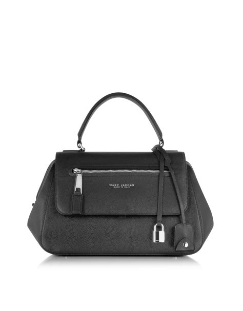 Marc Two Pocket Handbag by Marc Neo Incognito Black Leather Satchel Bag In