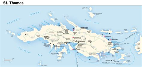 map of us islands st large road map of st island us islands