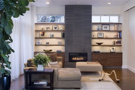 modern built in shelves fireplace with built in shelves family room contemporary
