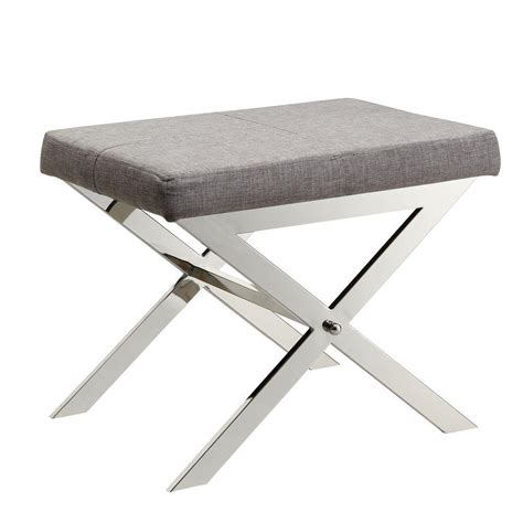 x bench stool homesullivan richardson grey linen vanity bench