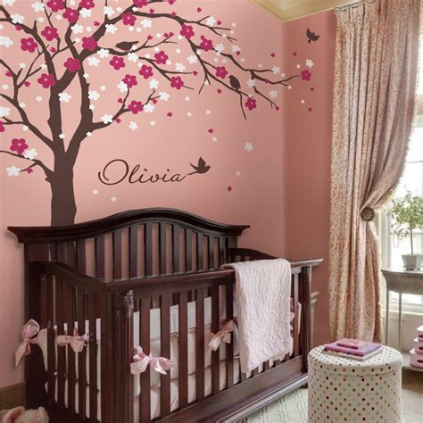 Cherry Blossom Tree Wall Decal For Nursery Cherry Blossom Tree Decal Style