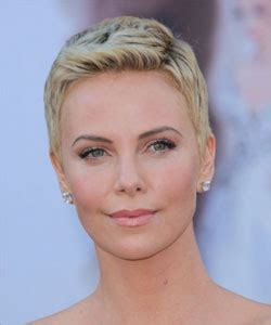 google images celebs with pixie cuts charlize theron pixie cut front view google search ref