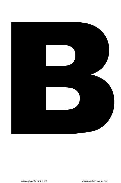 printable alphabet letter b large alphabet letters letter b http