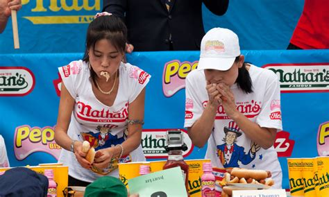 nathans famous hot dog eating contest the best drama at the nathan s hot dog eating competition