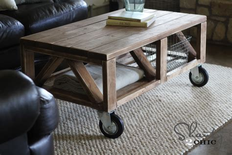 diy rustic coffee table plans woodguides
