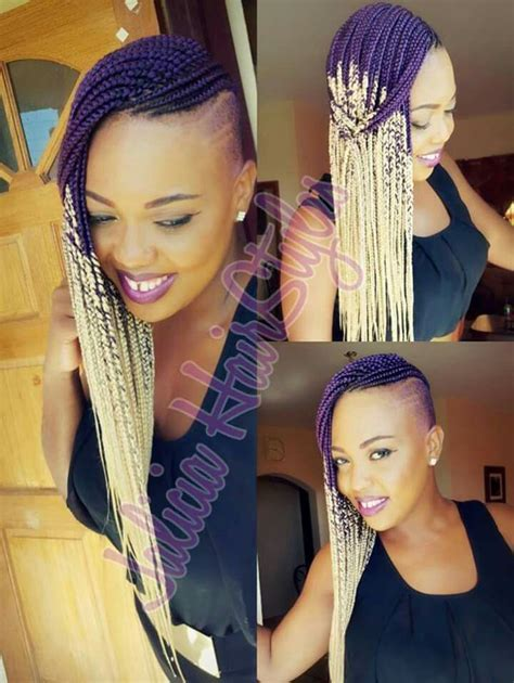 ombre box braids shaved sides natural hair pinterest