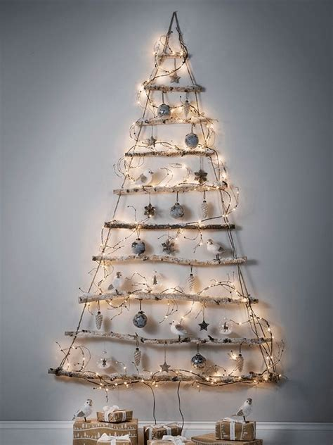 wall christmas trees  save  space shelterness