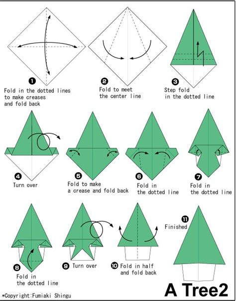 How To Make A Origami Tree - origami modular tree alfaomega info