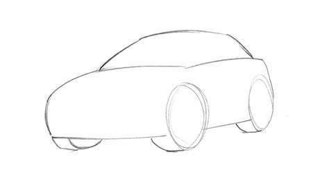 Learn How To Draw A Cartoon Car Easy Junior Car Designer Drawing For