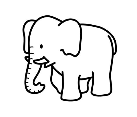 drawing for free elephant drawing clipart best