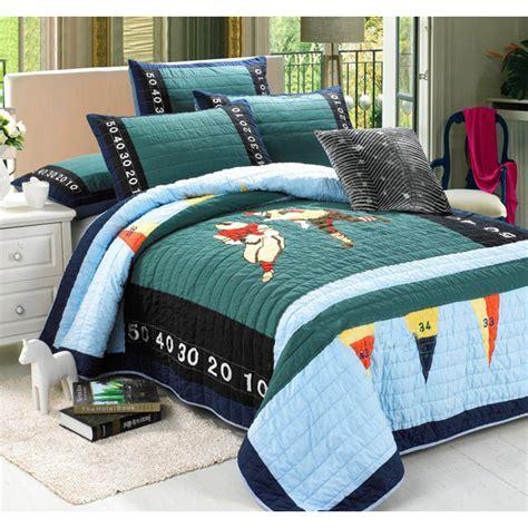 Boys Patchwork Bedding - chausub boys handmade quilt set 2pcs washed cotton quilts
