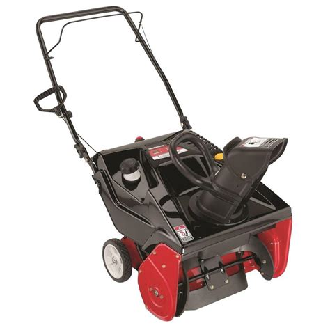 yard machines 21 in 179 cc single stage electric start