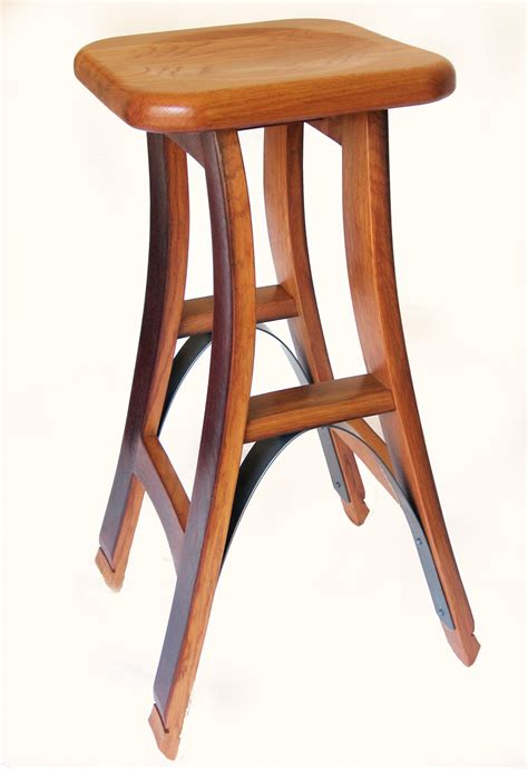 wine barrel bar stools wholesale eiffel high barstool made with recycled used oak wine