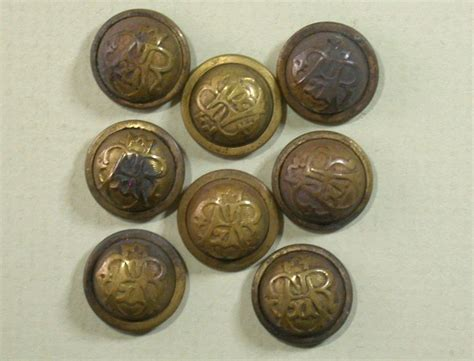 G 3940 Button Set antique set of 8 g a r cuff buttons circa 1865 1900 from ckantiques on ruby