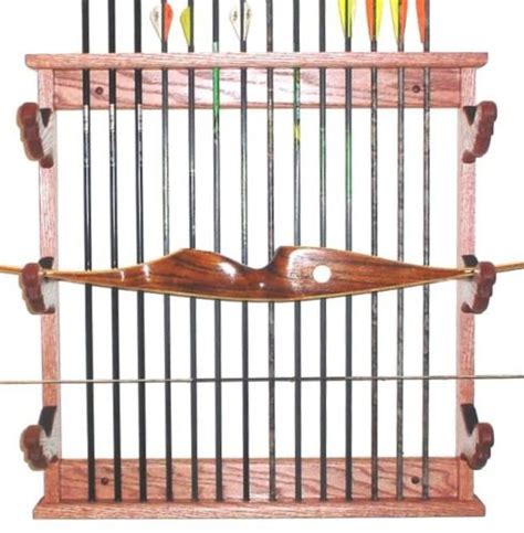 Archery Rack by Wooden Bow Arrows Rack Archery Wall Display By Gunracksforless