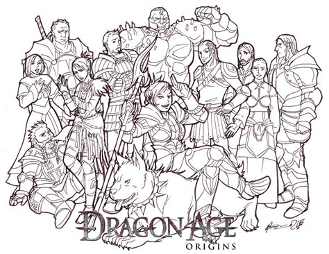 dragon age coloring page dragon prax origins by meibatsu on deviantart