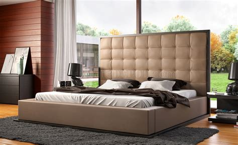 Oversized Headboard Ludlow Bed In Taupe Wenge By Modloft W Oversized Headboard