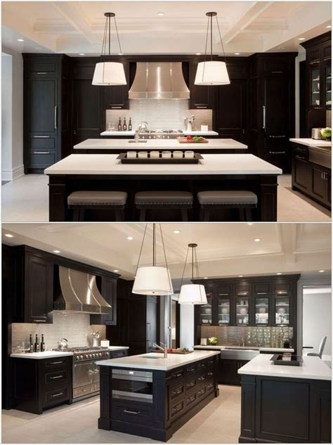 kitchens with 2 islands double island kitchens kitchen love pinterest