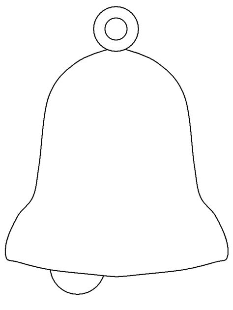 printable bell3 christmas coloring pages