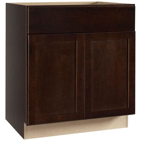assembled 30x34 5x24 in base kitchen cabinet in hton bay shaker assembled 30x34 5x24 in sink base