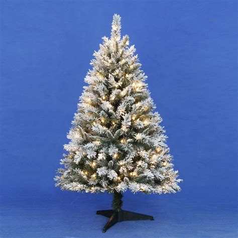 trim a tree lights trim a home 174 4 5ft flocked tree with clear lights