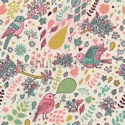 Pacman Wall Stickers elegante patr 243 n floral incons 250 til con p 225 jaros de colores