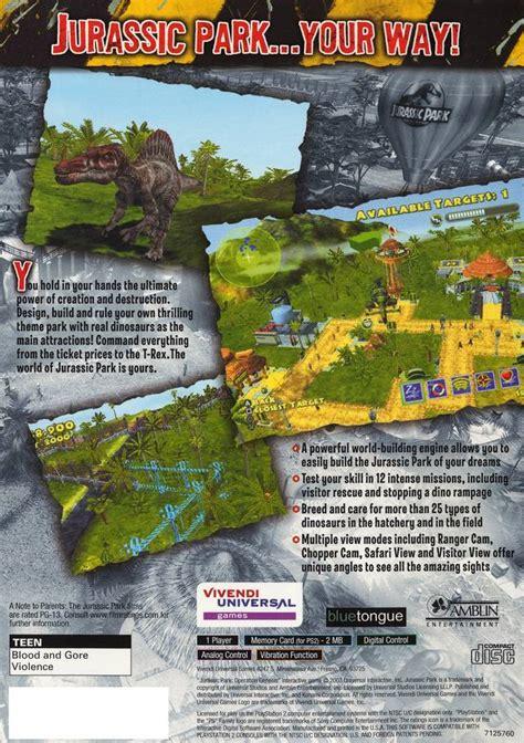where to buy jurassic park operation genesis jurassic park operation genesis sony playstation 2