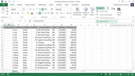 tutorial excel sheet inserting and deleting worksheets in excel tutorial