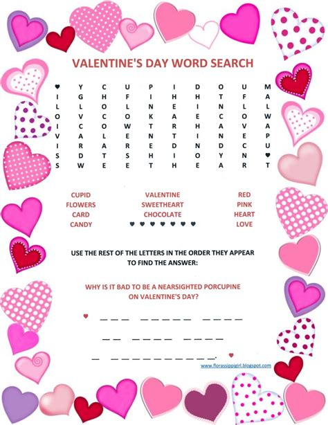 words for valentines florassippi s day word search free printable