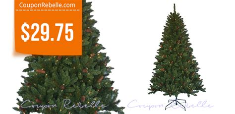 home depot 6 5 ft christmas tree with lights pinecones