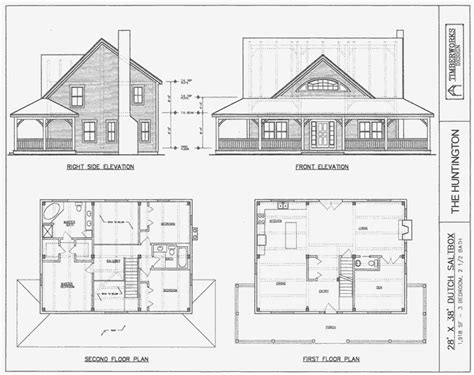 post beam house plans and timber frame drawing packages