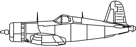 Home Shop Plans chance vought f4u 1a corsair side view