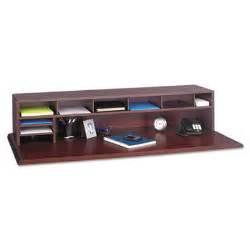 Desktop Shelf Organizer by Wood Low Profile Desktop Organizer With One Shelf
