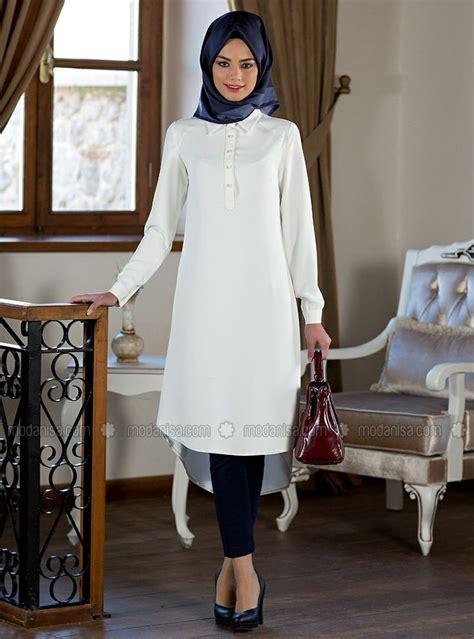 Tunik Putih Blus Hitam Killa Tunic Blus Putih Pakaian Ka 43p9 fashion 2016 2017 kuaybe gider islamic tunic