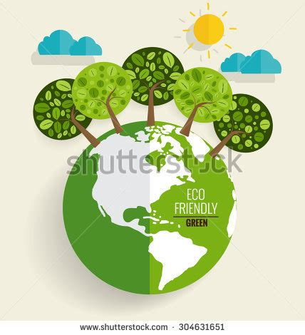 eco friendly ecology concept green eco stock vector 304631651 shutterstock