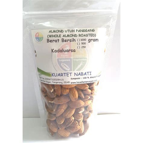 Kacang Almond Kupas beli 250gr roasted almond kacang almond kupas cangkang