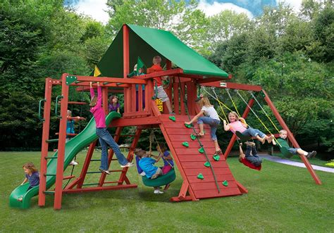residential swing sets residential backyard equipment a ok playgrounds swing
