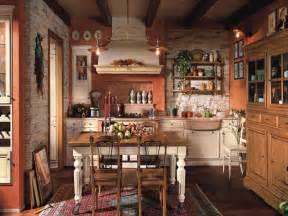 Decoration maison campagne cuisine pierre parement meubles bois tapis