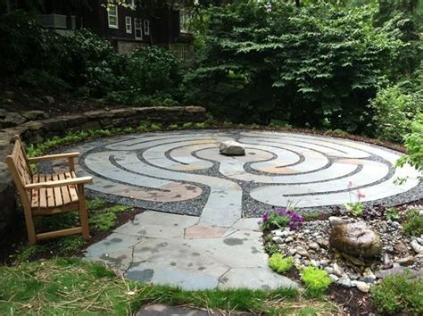 healing labyrinth garden garden design outdoor living
