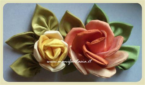 tutorial rosa di organza rose di stoffa fai da te tutorial manifantasia