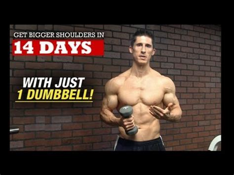 bigger wider shoulders in 14 days with 1 dumbbell
