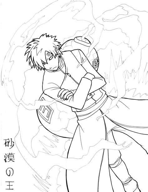 naruto gaara coloring pages gaara coloring pages coloring pages