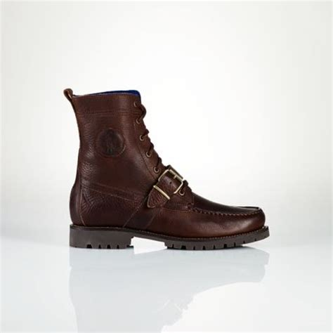polo ranger boots polo ralph ranger leather boot in brown for