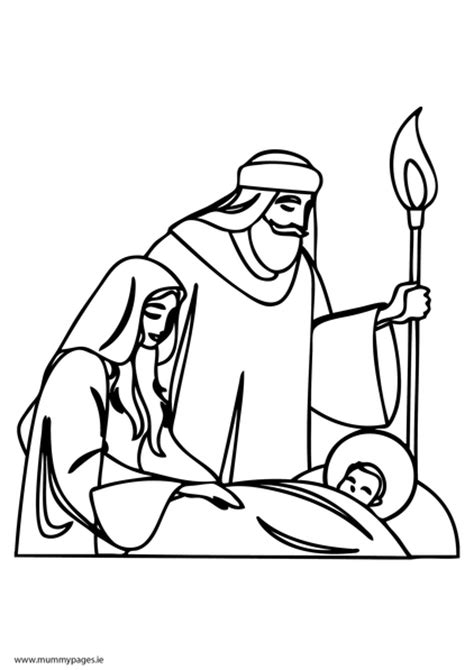 baby jesus coloring pages pdf mary joseph and baby jesus colouring page mummypages ie