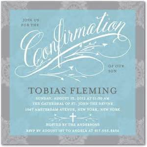 gracious lace teal confirmation invitations in teal