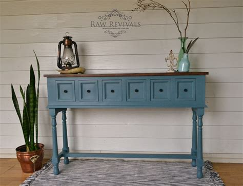 Blue Entryway Table Blue Entryway Table Blue Entryway Console Table Chairish Oklahoma Farmhouse Blue Distressed