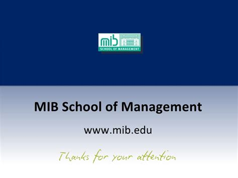 Mib Mba Difference by Mib School Of Management 2010