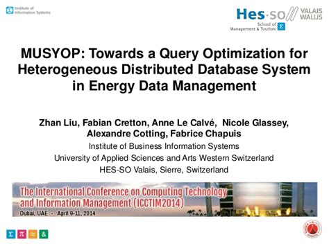 Mba In Energy Management Uk by Musyop Towards A Query Optimization For Heterogeneous