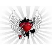 Grunge Valentine Hearts